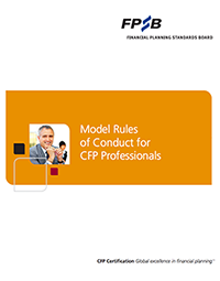 Model Rules of Conduct for CFP Professionals (PDF)